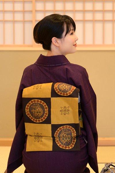 銀座【帯3519】今河織物製「木屋太」袋帯