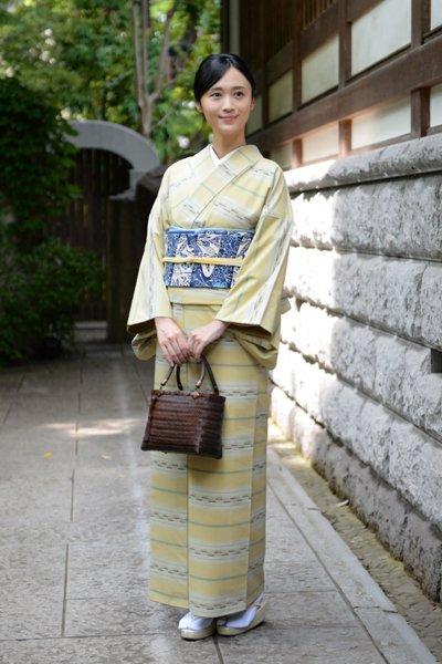 銀座【着物2903】琉球美絣 木綿着物
