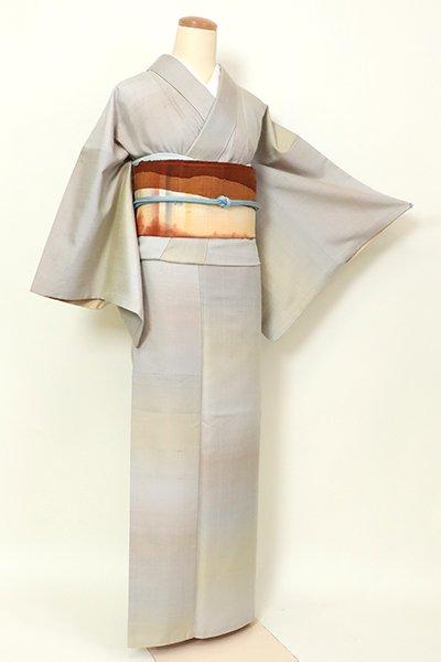 銀座【A-3183】(広め)赤城紬 潤色 横段暈かし(反端付)