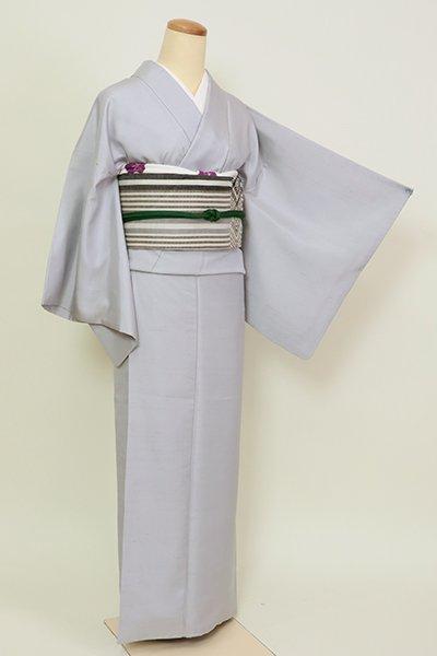 あおき【A-3194】紬 草木染め 灰青色 (反端付き)