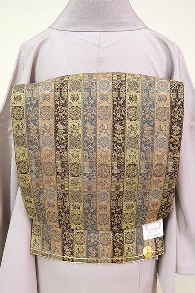 銀座【L-5236】西陣 龍村美術織物製 袋帯 「紅牙瑞錦」(証紙付) (N)