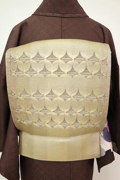 銀座【L-5237】組織り 袋帯 金色 幾何文