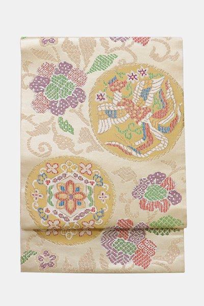 あおき【帯3557】西陣 帯屋捨松製 袋帯「瑞鳥丸紋」