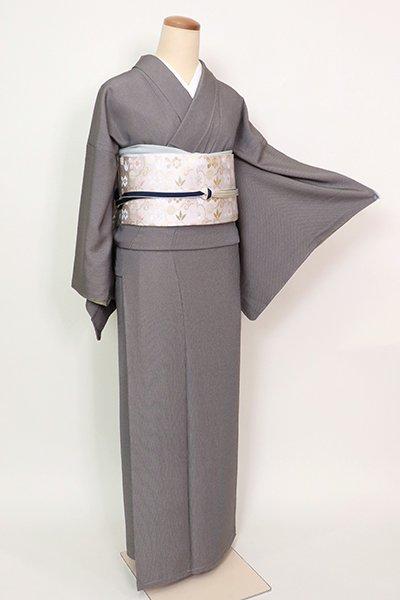 銀座【FR082-C-1952】江戸小紋 黒橡色 万筋(反端付)