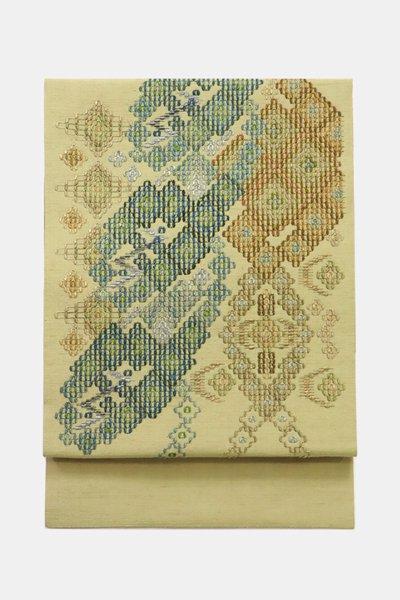 銀座【帯3563】琉球花織 名古屋帯