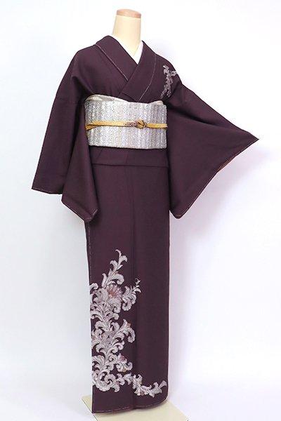 銀座【B-2720】(広め)付下げ 似せ紫色 唐花の図