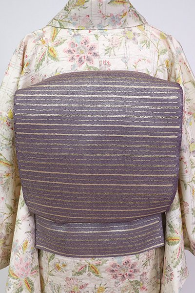銀座【L-5262】袋帯 薄色 横段