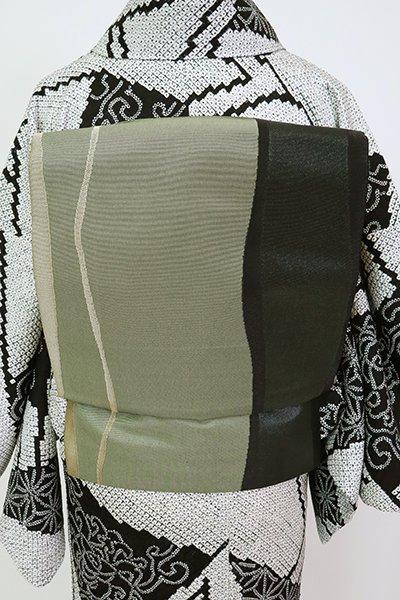 銀座【L-5280】洒落袋帯 岩井茶色 流線文