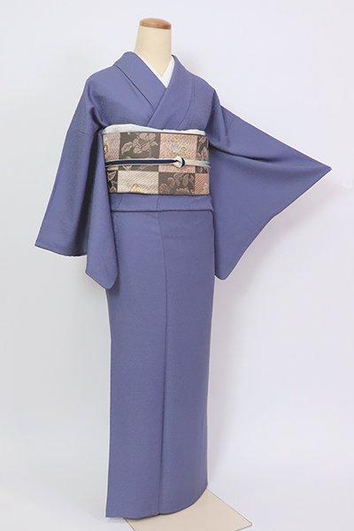 銀座【C-1972】(S・広め)繍一ッ紋 色無地 紺藍色(反端付)