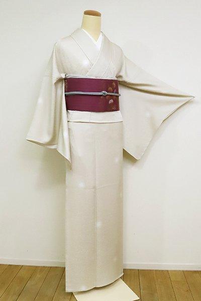 銀座【D-2523-2】単衣 小紋 練色 蛍暈かし(反端付)(N)