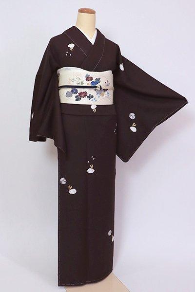 銀座【D-2635】(L)小紋 濃色 兎の図(反端付)(N)