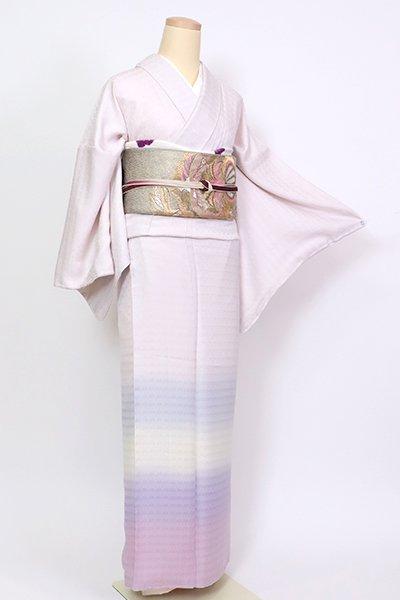 銀座【B-2731】付下げ 桜色 裾横段暈かし 七宝の地紋