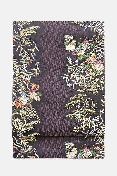 銀座【帯3578】西陣 山口美術織物製 袋帯 「網干献上紋」