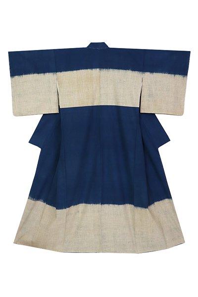 銀座【着物2945】青戸柚美江作 出雲織 木綿着物「熨斗目」(色紙付)