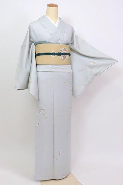 銀座【D-2647】(広め)小紋 白花色 瓢箪の図(反端付)