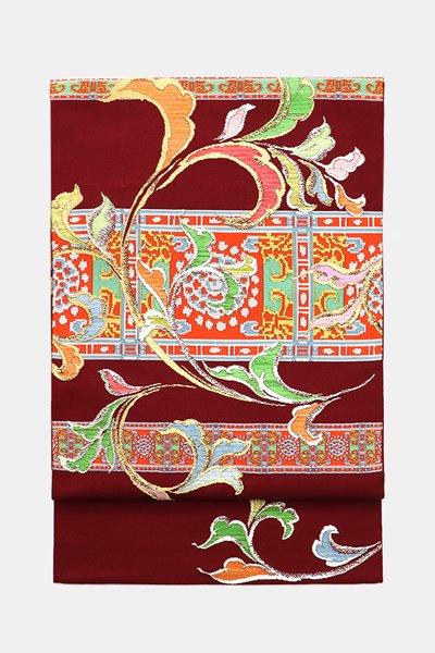 銀座【帯3589】龍村平蔵製 本袋帯 銘「いかるが錦」(高島屋 畳紙付)