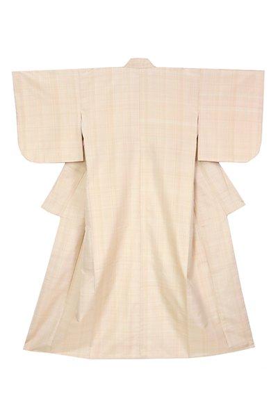 銀座【着物2952】吉田美保子作 紬織 着物 銘「みかんの純心」(畳紙付)