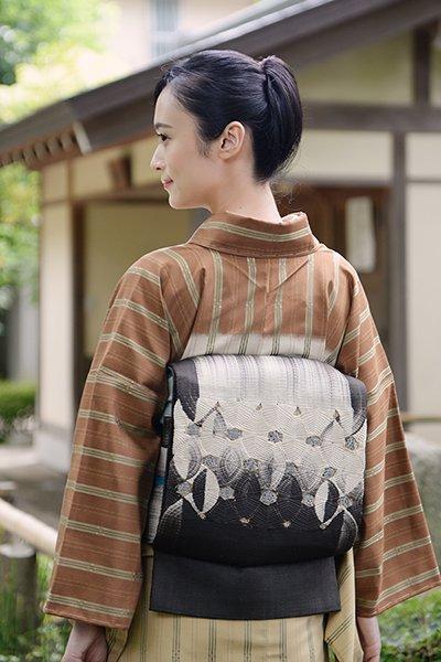 銀座【帯3595】西陣 ひなや製 唐組袋帯