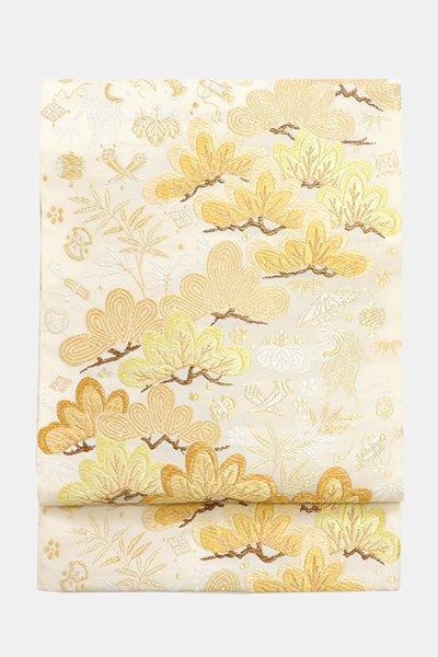 銀座【帯3596】西陣 山口美術織物製 袋帯 (反端、証紙付)