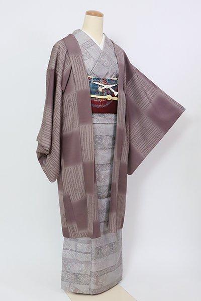 銀座【E-1300】羽織 濃色 市松に竹の図