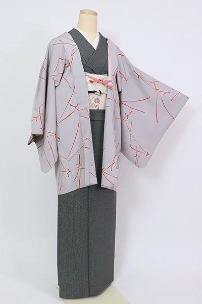 銀座【E-1303】羽織 牡丹鼠色 松葉の図(羽織紐付)