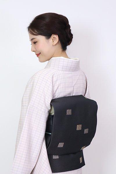 銀座【FR10-L-5313】洒落袋帯 羊羹色 源氏香の図