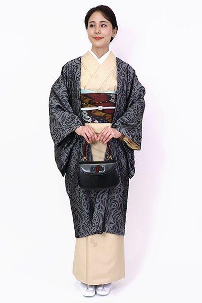 銀座【FR10-E-1288】羽織 蝋色 欧風唐草文