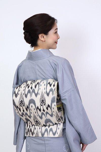 あおき【FR10-L-5320】洒落袋帯 白練色 太子間道