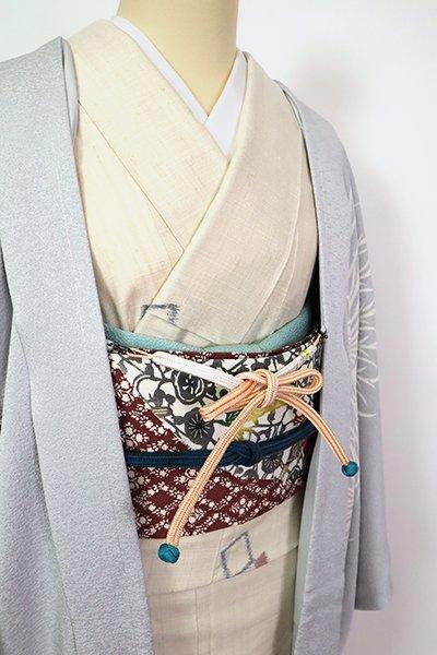 【G-1773】京都衿秀 羽織紐 雄黄色×白色 冠組
