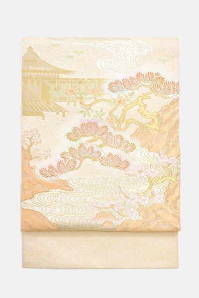 銀座【帯3611】たつむら製 本袋帯 銘「蒔絵松芳錦」