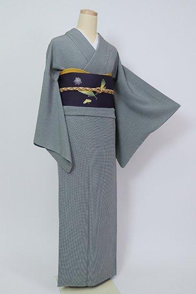 銀座【C-1987】江戸小紋 藍鼠色 角通し