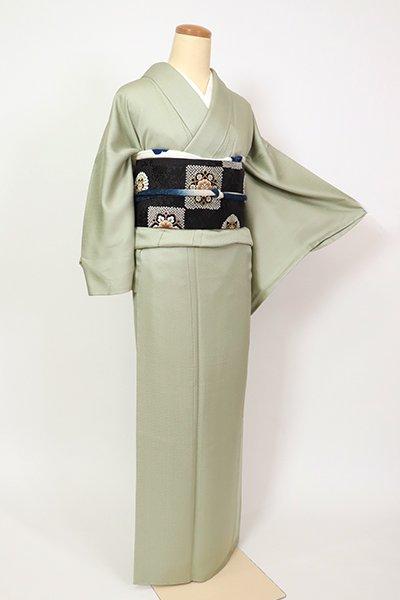 銀座【C-1988】繍一ッ紋 色無地 裏葉柳色 紗綾形の地紋