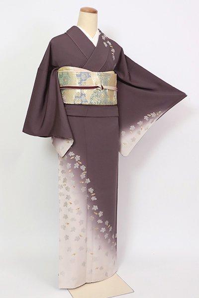 銀座【B-2751】(S)刺繍 訪問着 濃色 斜め暈かしに菊の図