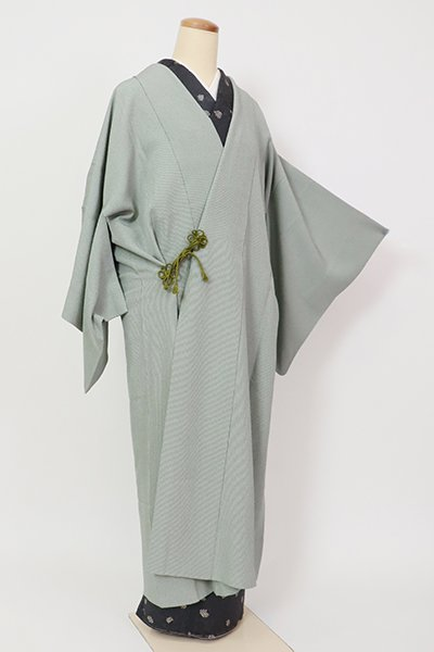銀座【E-1315】単衣 道中着 薄青色 万筋