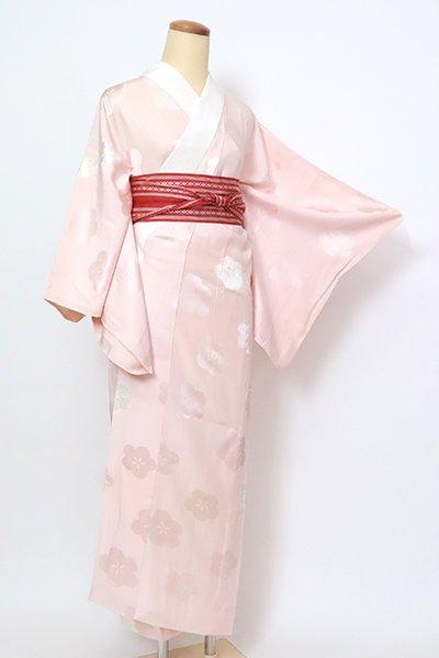 銀座【F-478】長襦袢 灰桜色 梅の図(半衿付)