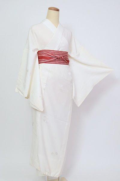 銀座【F-479】長襦袢 白色 花の丸文(半衿付)