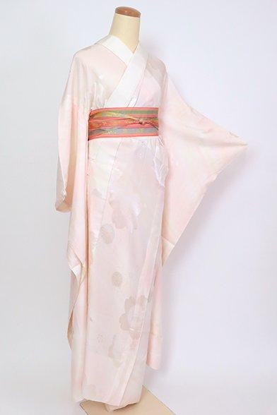 あおき【F-480】振袖用 長襦袢 桜色 桜の図(半衿付)