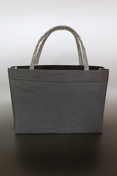 【G-1776】京都衿秀 楊柳×組紐 トートバッグ 墨色
