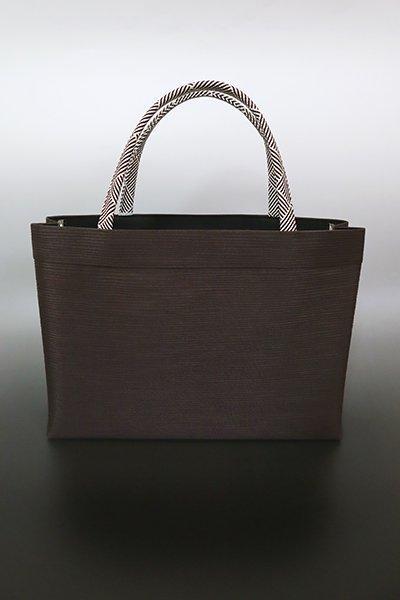 【G-1777】京都衿秀 楊柳×組紐 トートバッグ 赤墨色