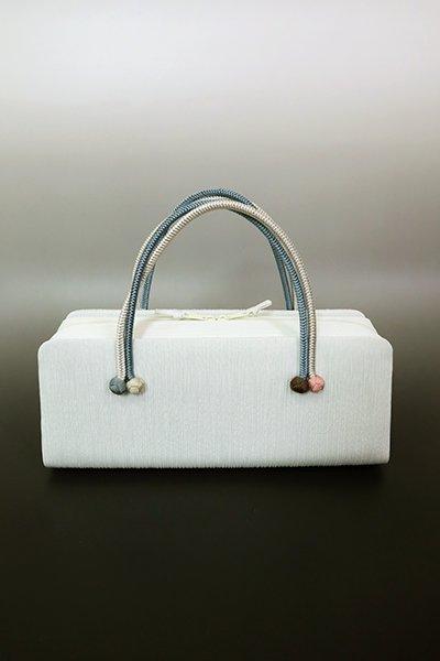 【G-1782】京都衿秀 利休バッグ 楊柳×苧環 藍白色 無地