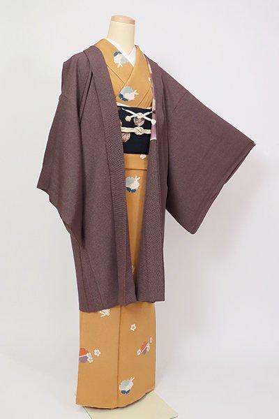 銀座【E-1327】羽織 似せ紫色 角通し(落款入・反端付)