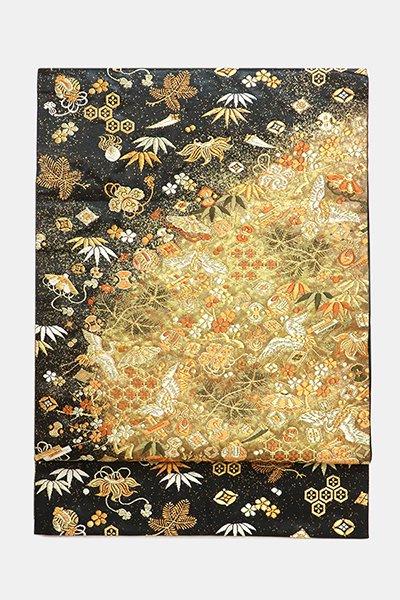 銀座【帯3633】西陣 河合美術織物製 袋帯