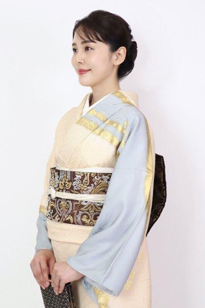 銀座【FR11-L-5388】袋帯 憲法色 装飾唐草文