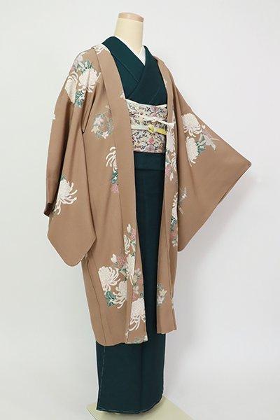 銀座【E-1335】羽織 柴染色 秋草の図