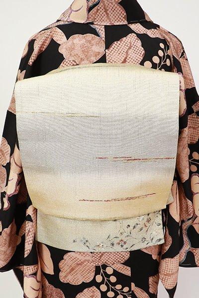 銀座【L-5403】袋帯 枯色 横段暈かしに抽象文
