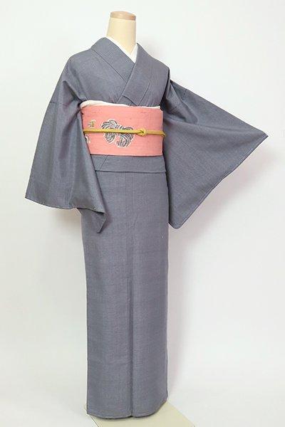 銀座【A-3260】(細め)紬 灰青色 亀甲文