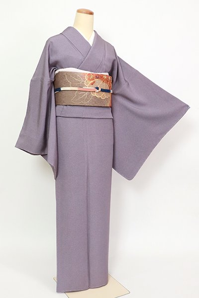 あおき【C-1998】(広め)繍一ッ紋 江戸小紋 鳩羽色 鮫(反端付)