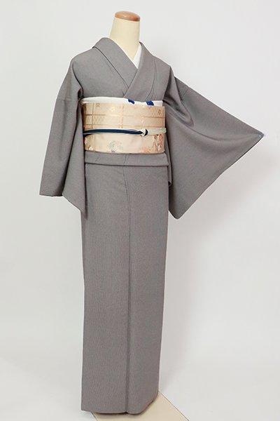 銀座【C-2001】縮緬地 江戸小紋 墨色 万筋