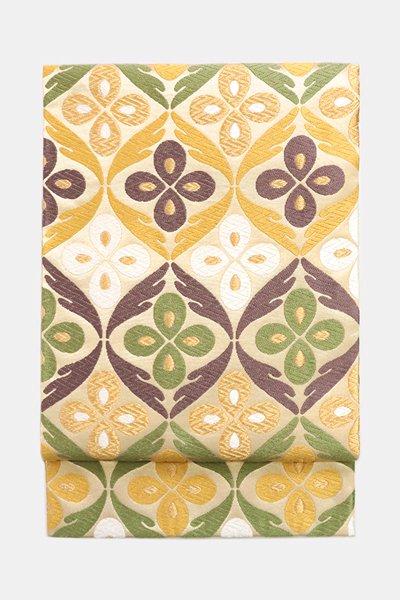 銀座【帯3654】西陣 河合美術織物製 袋帯