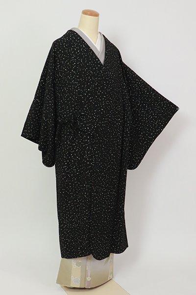 銀座【E-1343】(細め)単衣 道中着 黒色 抽象文